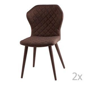 Zestaw 2 brązowych krzeseł sømcasa Avery