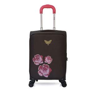 Czarna walizka podręczna z 4 kółkami LPB Joanna, 40 l