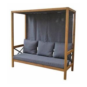Sofa ogrodowa z baldachimem i ciemnoszarym obiciem Ezeis Balthazar