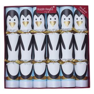 Zestaw 6 świątecznych crackerów Robin Reed Penguin