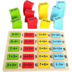 Drewniana zabawka do nauki matematyki Legler Number Fun