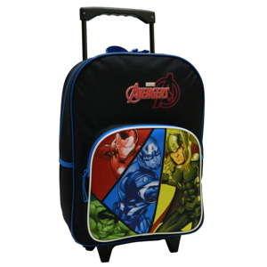Czarny plecak szkolny na kółkach Bagtrotter Avengers