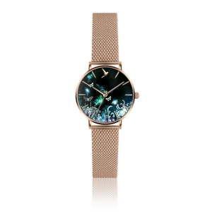 Zegarek damski z paskiem ze stali nierdzewnej w barwie różowego złota Emily Westwood Forest