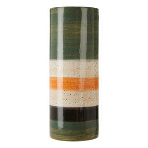 Zielono-biały wazon z kamionki Premier Housewares Sorrell, wys. 40 cm