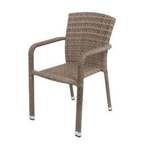 Jasnobrązowe sztaplowane krzesło ogrodowe ADDU Getafe