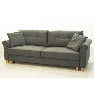 Szara 3-osobowa sofa rozkładana Sinkro Porto