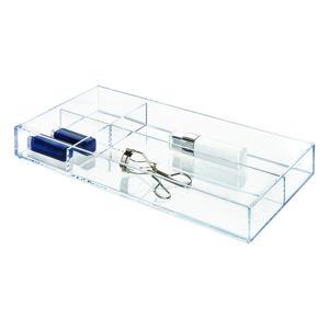 Przezroczysty organizer z przegródkami iDesign Clarity, 40,6x20,3 cm