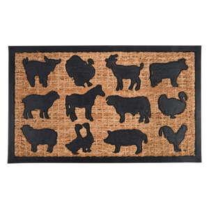 Wycieraczka z włókna kokosowego z motywem zwierząt z farmy Esschert Design Gardener, 45,3x75,5 cm