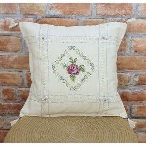 Beżowa bawełniana poszewka na poduszkę, 50x50 cm