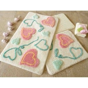 Zestaw 3 dywaników łazienkowych Alessia Askim Pink