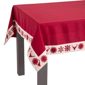 Czerwony obrus świąteczny Unimasa X-Mass, 145 x 220 cm