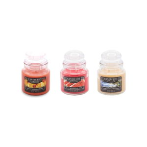 Zestaw 3 świeczek zapachowych w szkle Candle-Lite Frresh Fruit, 27 h