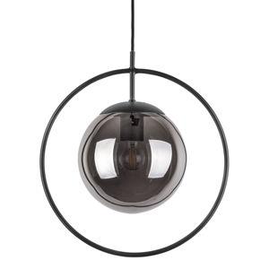 Szaro-czarna lampa wisząca Leitmotiv Round, wys. 38 cm