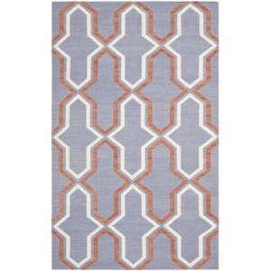 Niebieskoszary dywan wełniany Safavieh Aklim, 243x152 cm