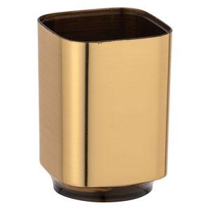 Kubek na szczoteczki do zębów w kolorze złota Wenko Auron