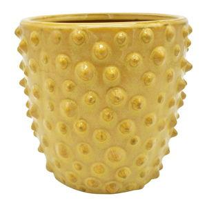 Żółta ceramiczna doniczka PT LIVING Spotted, ø 14 cm