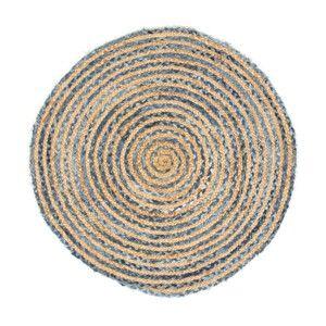 Szaro-brązowy dywan z włókna konopnego Cotex Rondo, ø 140 cm