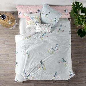 Komplet jednoosobowej pościeli bawełnianej na peřinu a polštář Happy Friday Parakeet, 140 x 200 cm