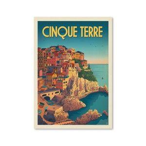 Plakat Americanflat Cinque Terre, 42x30 cm