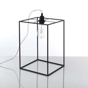 Czarna lampa stołowa Tomasucci Stick, 36x25x25 cm