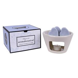 Kominek zapachowy z woskiem o zapachu pudru Ego Dekor Sweet Home, 30h