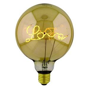 Żarówka w złotym kolorze Homemania Curved Up Love