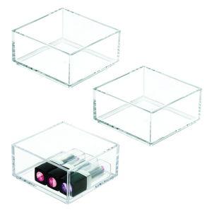 Przezroczysty organizer iDesign Clarity, 10x10 cm