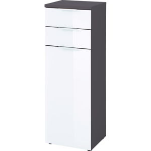 Biało-szara szafka Germania Pescara, wys. 112 cm