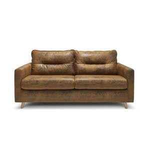 Koniakowa rozkładana sofa 3-osobowa Bobochic Paris Sinki Vintage