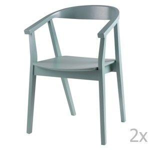 Zestaw 2 miętowych krzeseł sømcasa Donna