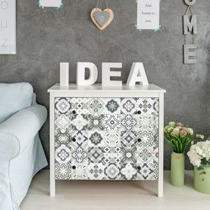 Zestaw 30 naklejek na meble Ambiance Tiles Stickers For Furniture Evelyna, 20x20 cm