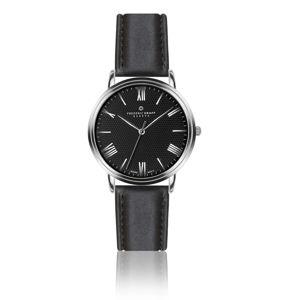 Zegarek męski z czarnym paskiem ze stali nierdzewnej i czarnym cyferblatem Frederic Graff Silver Mont Silver Weisshorn