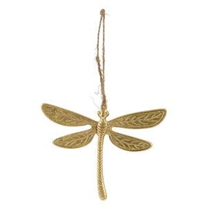 Wisząca dekoracja wielkanocna w kolorze złota Ego Dekor Dragonfly,10x8cm