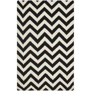 Czarny wełniany dywan Safavieh Nelli, 182x121 cm
