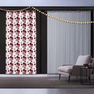 Świąteczna zasłona Christmas Atmosphere, 140x260 cm