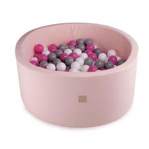 Różowy basen dla dzieci z 300 piłkami MeowBaby Fuchsia, ø 90x40 cm