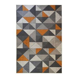 Szaro-pomarańczowy dywan Floorita Shapes, 80x150 cm