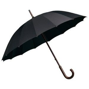 Czarny parasol Ambiance Elegance, ⌀102cm