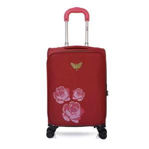 Czerwona walizka podręczna z 4 kółkami LPB Joanna, 40 l