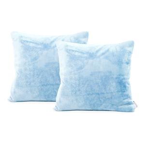 Zestaw 2 jasnoniebieskich poszewek na poduszkę DecoKing Mic, 45x45 cm