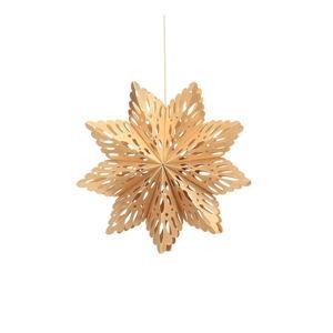 Papierowa ozdoba świąteczna w kształcie śnieżynki w kolorze złota Only Natural, dł. 22,5 cm