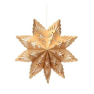 Papierowa ozdoba świąteczna w kształcie śnieżynki w kolorze złota Only Natural, dł. 45 cm