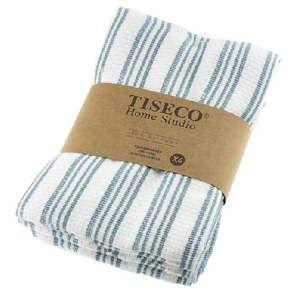 Komplet 4 niebieskich bawełnianych ścierek Tiseco Home Studio, 50x70 cm