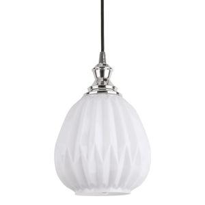 Biała lampa wisząca Leitmotiv Posh, wys.18,3 cm