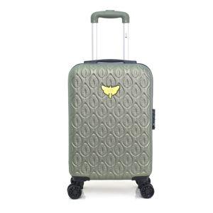 Zielona walizka fakturowana z 4 kółkami LPB Alicia, 31 l