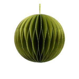 Zielona papierowa ozdoba świąteczna Only Natural, ø 7,5 cm
