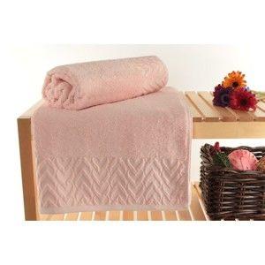 Zestaw 2 różowych ręczników Kepl