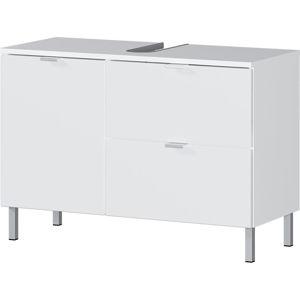 Biała szafka pod umywalkę Germania Mauresa, szer. 80 cm