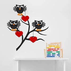 Dekoracyjna naklejka na ścianę Owl & Heart
