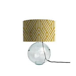 Żółta lampa z ręcznie dmuchanego szkła z aksamitnym kloszem Velvet Atelier